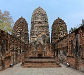 Ruins Of Temple Wat Si Sawai On The Territory Of Famous Sukhothai Historical Park, A Unesco World He poster