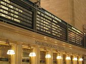 pic of amtrak  - Profile shot of the main information board in the hall in Grand Central Station  - JPG