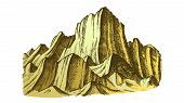 Peak Of Rocky Mountain Landscape . Mountain Versant Rock Peak Felsenwand Adventure Wilderness Place  poster
