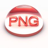 stock photo of png  - 3D Style file format icon over white background  - JPG