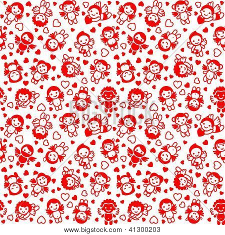 Festive background, wrapping paper, red icons