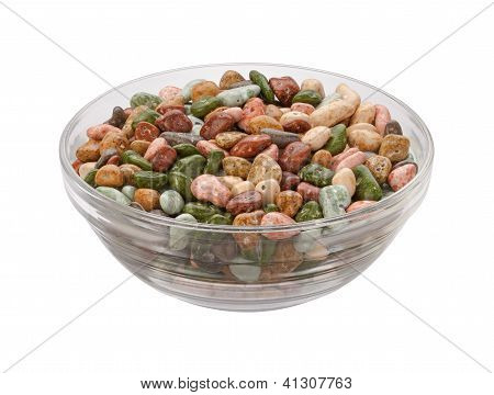 Chocolate Rocks Candy Nuggets Isolated