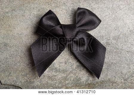 Black tie.