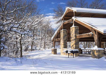 Pavillion In Winter