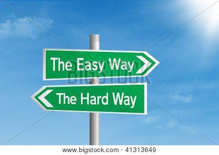 Life choice road sign