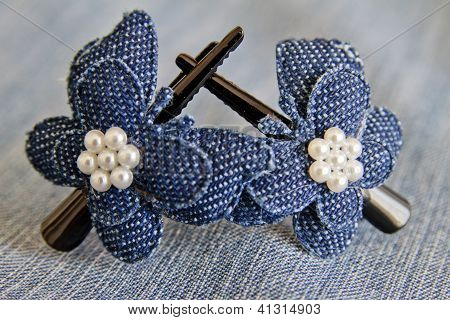 Blue Hairclips