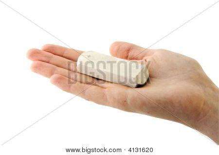 Eraser On Palm
