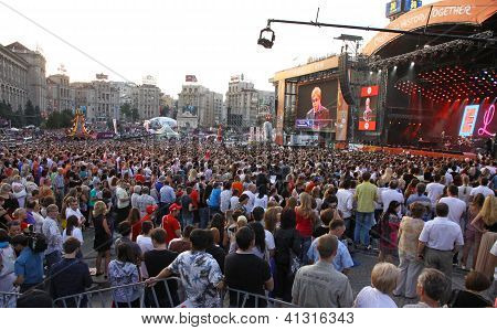 Charity Anti-aids Concert At The Independence Square In Kyiv, Ukraine