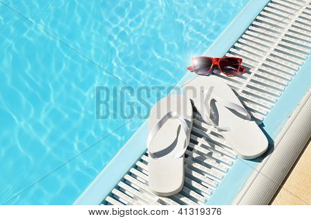 Hot Sun Summer Concept At Pool