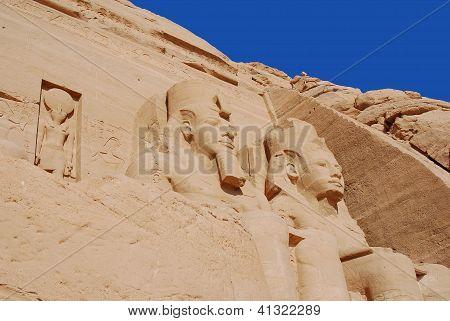 The Abu Simbel temples