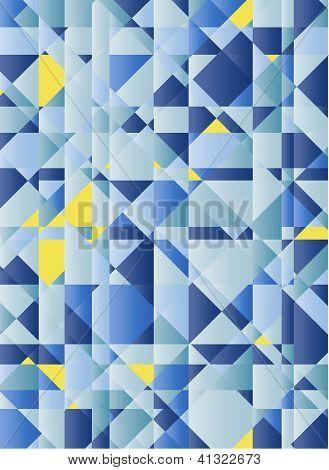 Blaue und gelbe Abstraktion