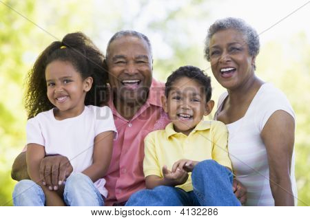 Grandparents Laughing With Grandchildren.