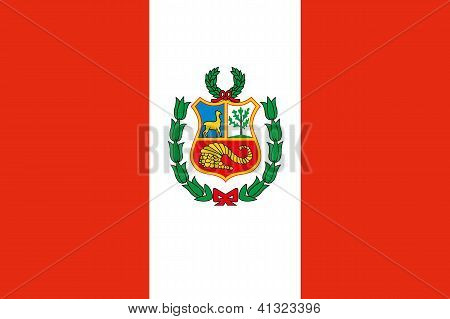 Illustrated Drawing of the flag of Peru