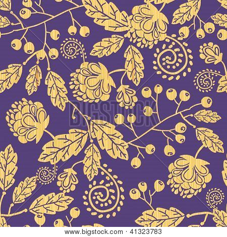 Wooden texture fall plants seamless pattern background