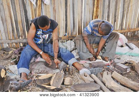 Masai woodcarver
