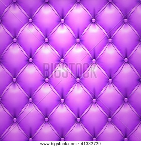 Vector illustration of purple realistic upholstery leather pattern background. Eps10.