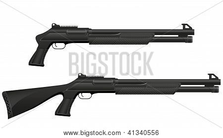 Shotgun Vector Illustration