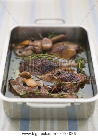 Tray Of Confit Duck Legs