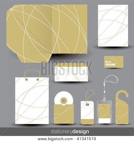 Stationery design set. Vector format in portfolio