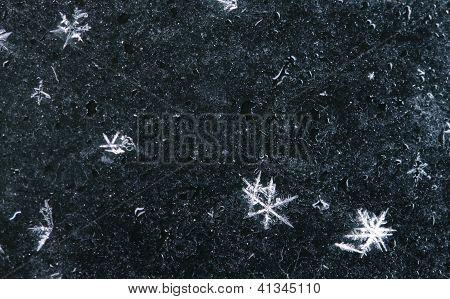 vários flocos de neve