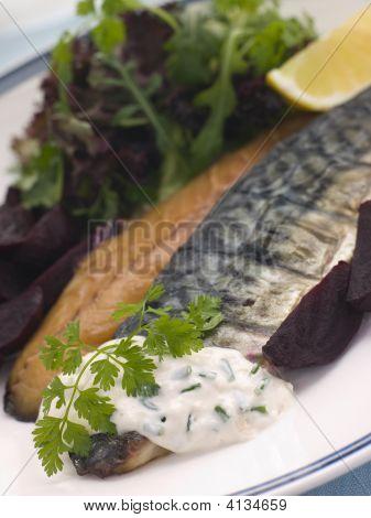 Smoked Mackerel Beetroot Salad With Horseradish Cream