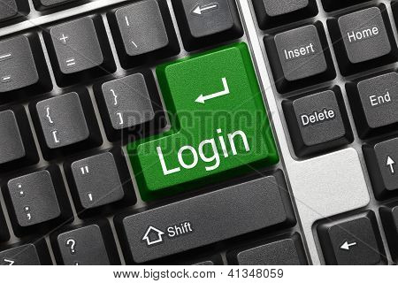 Conceptual Keyboard - Login (green Key)