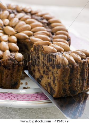 Slice Of Dundee Cake
