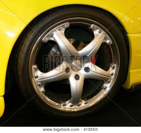 Yellow Car Wheel