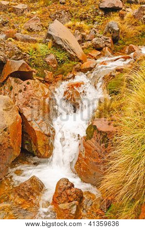 Small Stream On A Volcanic Mountain
