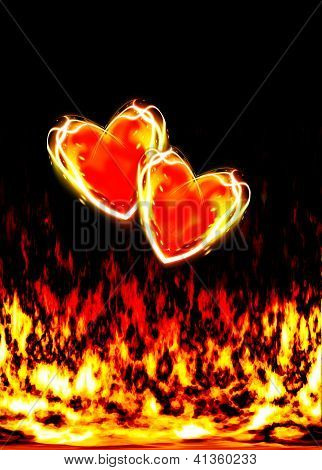 Two Loving Hearts, Burning In The Flames Of Love