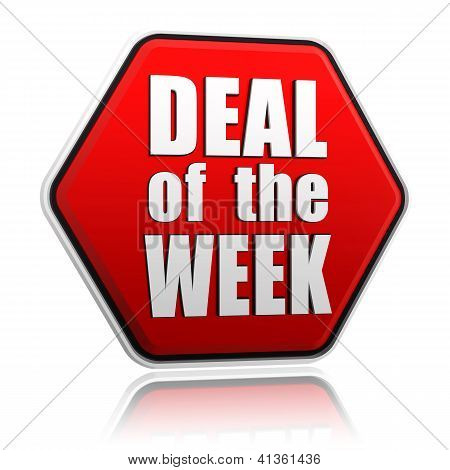 Deal Of The Week In Red Hexagon