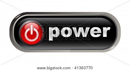 Start - power on - web button, vector