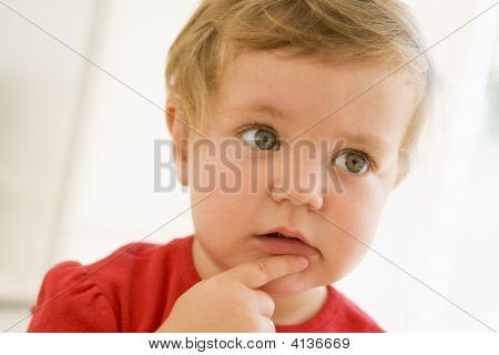 Baby Indoors Thinking