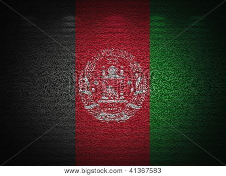 Afghani Flag Wall, Abstract Grunge Background