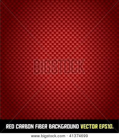 RED carbon fiber background VECTOR EPS10.
