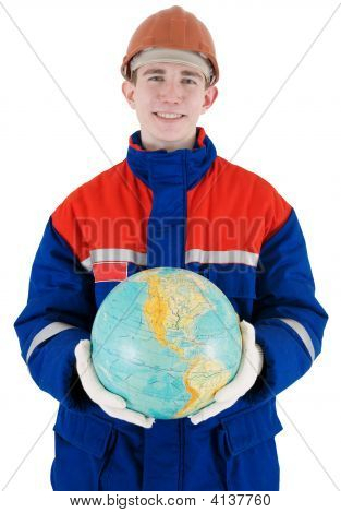 Labourer With Globe