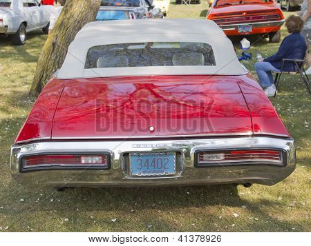 1972 Red Buick Skylark Rear View
