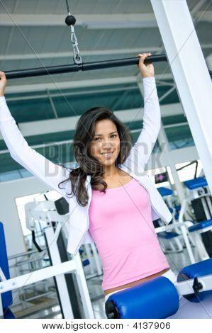 Female Doing Exercise