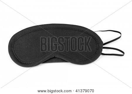 Máscara de dormir isolada no branco