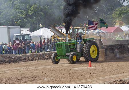 John Deere 6030 Tractor Pulling With Smoke