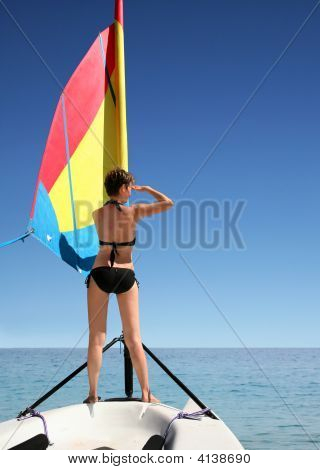 Girl On The Sail Boat