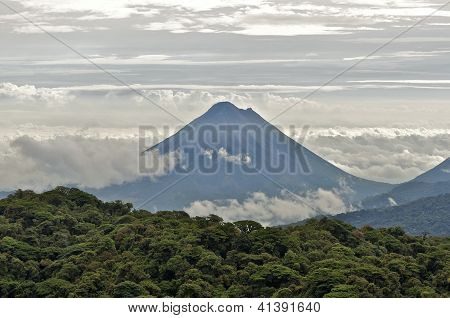 The Arenal Volcano Between Clouds