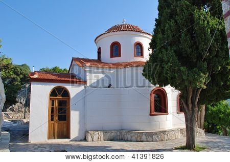 The church of Agios Nikolaos in Skiathos Town (Chora) on the Greek island of Skiathos.