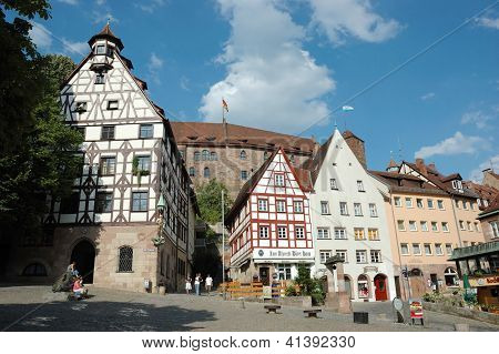 Nuremberg,bavaria,germany - August 19: Tourists Visiting House Of Famous German Painter Albrecht Dur