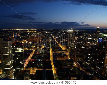 Nightscene Of Frankfurt City