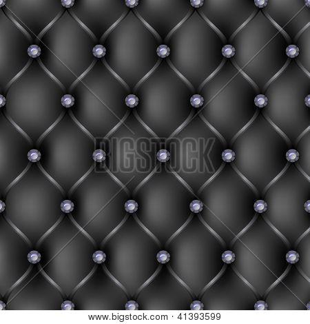 Black Leather Upholstery Pattern Background
