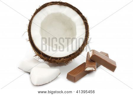 Fresh coconut and chocolate