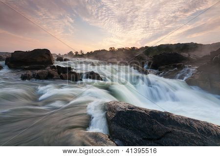Great Falls Waterfall Potomac River at Dawn