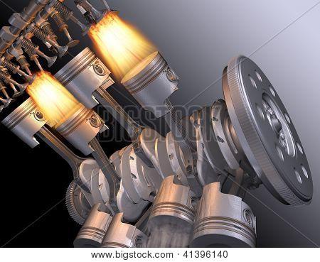 Motor V8.