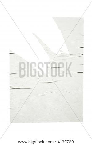 Empty Torn Poster, Isolated